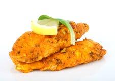 A spicy summer starter, lemon chicken salad Royalty Free Stock Image