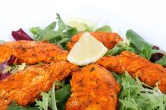 A spicy summer starter, lemon chicken salad Royalty Free Stock Photo