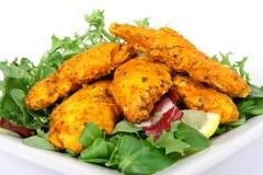 A spicy summer starter, lemon chicken salad Stock Photo