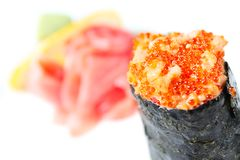 Spicy sushi with salmon Stock Image
