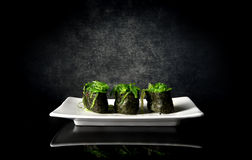 Spicy sushi with seaweed Stock Image