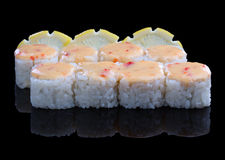 Spicy Sushi set Royalty Free Stock Photo