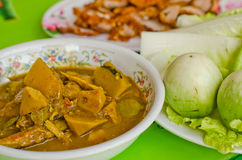 The spicy taste South Thai food. One of the spicy taste South Thai food with vetgetable Stock Photo
