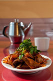 Spicy tendons and beef Stock Images