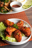 Spicy Thai Chicken Wings Royalty Free Stock Photography