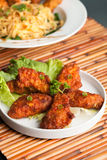 Spicy Thai Chicken Wings Stock Photos