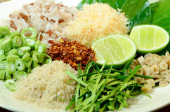 Spicy Thai Cuisine Khao Yam Royalty Free Stock Images