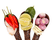Spicy Thai food ingredients Stock Photo