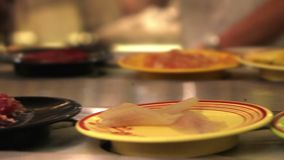 Spicy Thai foods stock footage