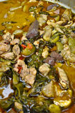 Spicy Thai green curry Stock Image