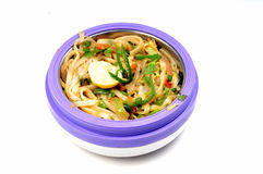 Spicy thai noodles Stock Photos