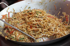Spicy thai noodles Stock Image
