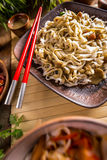 Spicy thai noodles Stock Images