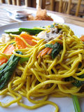 Spicy thai noodles Royalty Free Stock Images