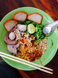 Spicy Thai noodles Stock Photo