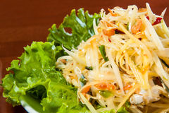 Spicy Thai papaya salad Royalty Free Stock Photography