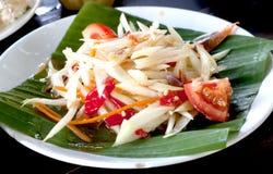 Spicy Thai Papaya Salad. Thai Food Stock Images