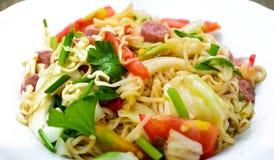 Spicy Thai Salad. Egg noodle spicy thai salad Royalty Free Stock Photos