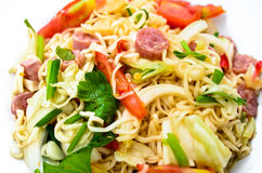 Spicy Thai Salad. Egg noodle spicy thai salad Royalty Free Stock Image