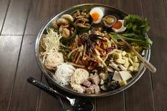 Som Tum. Spicy thai salad Som Tum Stock Image