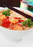 Spicy Thai shrimp soup Royalty Free Stock Images