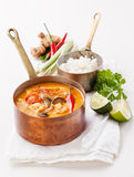 Spicy Thai soup Tom Yam Royalty Free Stock Photos