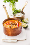 Spicy Thai soup Tom Yam Stock Image