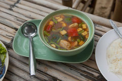 Spicy Thailand Soup Stock Images
