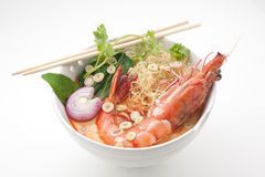 Spicy Thailand traditional soup Tom Yam Royalty Free Stock Photos