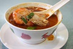 Spicy thomyam soup Royalty Free Stock Photography