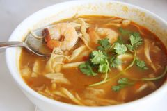 Spicy thomyam soup Stock Images