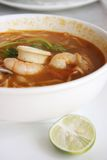 Spicy thomyam soup Royalty Free Stock Photos