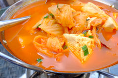 Spicy tofu soup Stock Photos