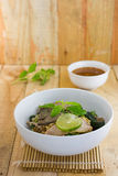 Spicy tom yom noodle with pork thai style Royalty Free Stock Photography