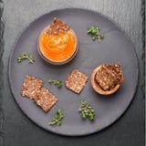 Spicy tomato sauce stock photos