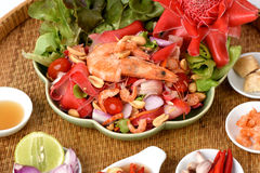Spicy Torch Ginger flower salad. Stock Images