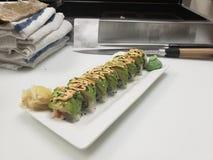 Spicy Tuna with avo royalty free stock photos