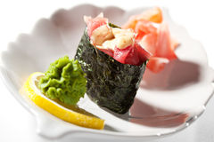Spicy Tuna Gunkan Stock Photos