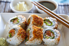 Spicy tuna roll sushi Stock Images
