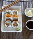 Spicy tuna roll sushi Royalty Free Stock Photography