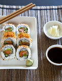 Spicy tuna roll sushi Stock Image