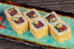 Spicy Tuna Rolls Stock Photo