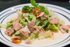 Spicy tuna salad. Fushion food Royalty Free Stock Image