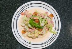 Spicy tuna salad. Fushion food Royalty Free Stock Photo