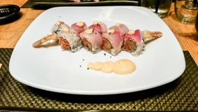 Spicy Tuna Sushi stock images
