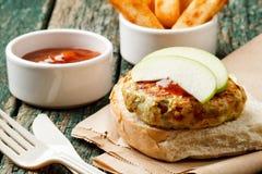 Spicy turkey burger Stock Photo
