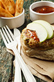 Spicy turkey burger Royalty Free Stock Images