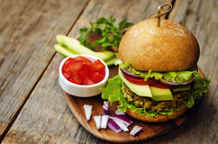 Spicy vegan curry burgers with millet, chickpeas and herbs Royalty ...