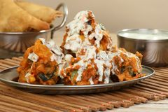 Spicy vegetable pakora Stock Photo