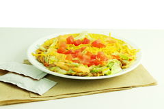 Spicy veggie tostada mexican food Stock Images